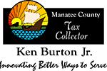 Logo: Manatee County Tax Collector Ken Burton, Jr. Innovating better ways to serve.