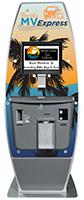 Motor vehicle registration renewal self-service kiosk
