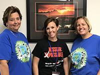 Tourist tax team members, left to right: Kris, Jen, Jennie