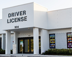 Front entrance of Driver License office